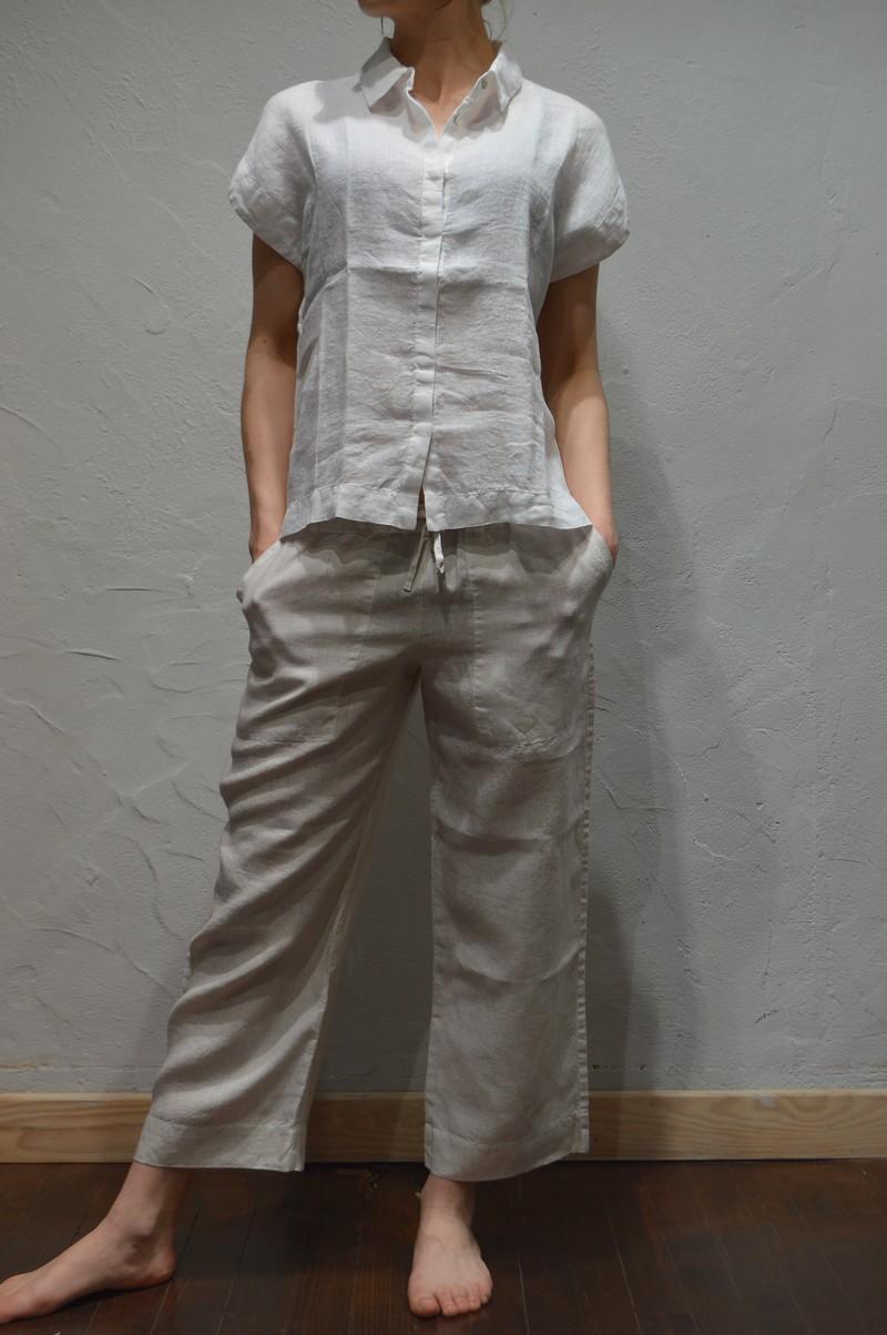 pantacourt en lin blanc casse 120 lino c0010793 120 lino low2443 mode et. Black Bedroom Furniture Sets. Home Design Ideas