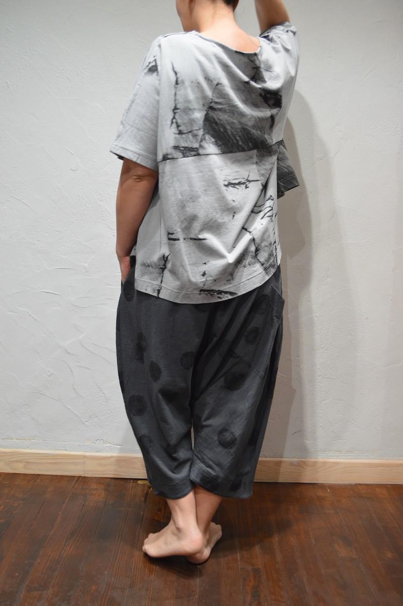 Pantalon Marque Moyuru Femme Pour Pois La De A Sarouel Noir Gris 7xrR7vq