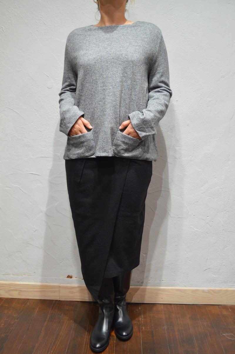 pull ample de couleur gris pour femme de la marque les filles d 39 ailleurs. Black Bedroom Furniture Sets. Home Design Ideas